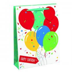 Cheap Stationery Supply of Happy Birthday Balloon Gift Bag Medium (Pack of 6) 26952-3 Office Statationery