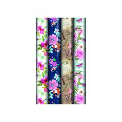 Cheap Stationery Supply of Assorted Floral Gift Wrap (Pack of 39) 24582-GW Office Statationery