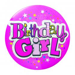 Cheap Stationery Supply of Birthday Girl Giant Badge (Pack of 6) 20880-BG-A Office Statationery