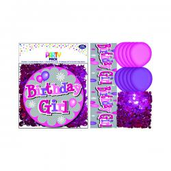 Cheap Stationery Supply of Birthday Girl Party Pack Pink (Pack of 6) 13704-PP Office Statationery