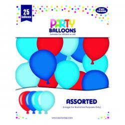 Cheap Stationery Supply of Party Balloons Blue/Red (Pack of 6) 12924-B-1 Office Statationery