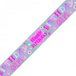 Cheap Stationery Supply of Birthday Girl Banner Pink (Pack of 6) 6837-HBG-2 Office Statationery