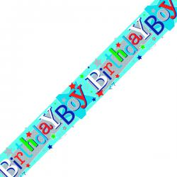 Cheap Stationery Supply of Birthday Boy Banner Blue (Pack of 6) 6837-HBB-3 Office Statationery