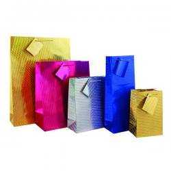 Cheap Stationery Supply of Holographic Gift Bag Medium (Pack of 12) FUNK3 Office Statationery