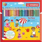 Stabilo Trio Thick Colouring Pencil Assorted Colours Pack 24