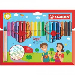 Cheap Stationery Supply of Stabilo Cappi Felt Pens With Cap Ring Pack of 24 Office Statationery