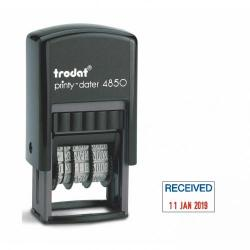 Cheap Stationery Supply of Trodat Printy 4850/l1 Self Inking Word And Date Stamp Received 25x5mm Blue/red Ink Office Statationery