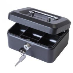 Cheap Stationery Supply of Value 20cm 8  Metal Cash Box Bk Office Statationery