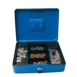 Cheap Stationery Supply of Valuex 30cm 12  Metal Cash Box Blue Office Statationery