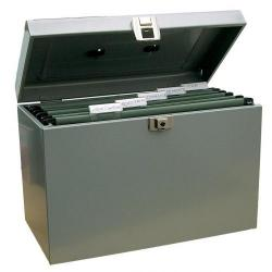 Cheap Stationery Supply of Value Metal File Box A4 Grey Office Statationery