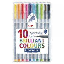 Cheap Stationery Supply of Staedtler Triplus Fineliner Desktop Bx Assorted Colours Pack of 10 Office Statationery
