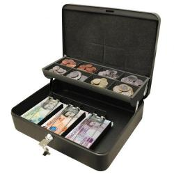 Cheap Stationery Supply of Cathedral Cash Box Black Ultimate 12in Office Statationery