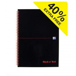 Cheap Stationery Supply of Black N Red A4 Wirebound Hard Cover Notebook Ruled 140 Pages Black/red Pack 5 Office Statationery
