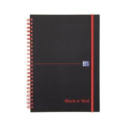 Cheap Stationery Supply of Black N Red A5 Wirebound Polypropylene Cover Notebook Ruled 140 Pages Black/red Pack 5 Office Statationery