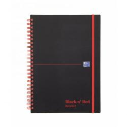 Cheap Stationery Supply of Black N Red A5 Wirebound Polypropylene Cover Notebook Recycled Ruled 140 Pages Black/red Pack 5 Office Statationery