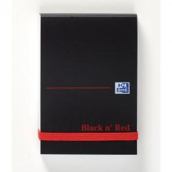 Cheap Stationery Supply of Black N Red A7 Casebound Polypropylene Cover Notebook Ruled 192 Pages Black/red Pack 10 Office Statationery