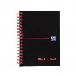 Cheap Stationery Supply of Black N Red A6 Wirebound Hard Cover Notebook Ruled 140 Pages Black/red Pack 5 Office Statationery