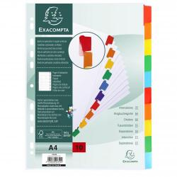 Cheap Stationery Supply of Exacompta 10 Part Dividers With Reinforced Mylar Tabs Office Statationery
