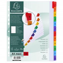 Cheap Stationery Supply of Exacompta 12 Part Printed Dividers A4 Extra Wide 20469EX Office Statationery