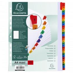 Cheap Stationery Supply of Exacompta 31 Part Printed Dividers A4 Extra Wide 20476EX Office Statationery