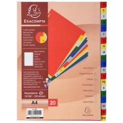 Cheap Stationery Supply of Exacompta 20 Part Printed Polypropylene Index Office Statationery