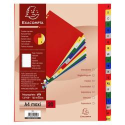 Cheap Stationery Supply of Exacompta 20pt Print Polypropylene Index Ex Wide Office Statationery