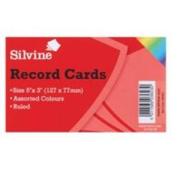 Cheap Stationery Supply of Valuex Record Cards 126x77mm Ruled Assorted Colours Pack 100 Office Statationery