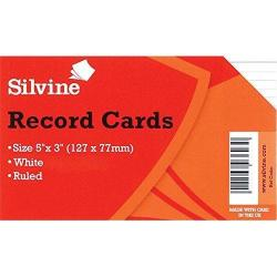Cheap Stationery Supply of Valuex Record Cards 127x76mm Ruled White Pack 100 Office Statationery