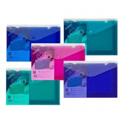 Cheap Stationery Supply of Snopake Polyfile Trio Wallet File Polypropylene Foolscap Electra Assorted Colours Pack 5 Office Statationery