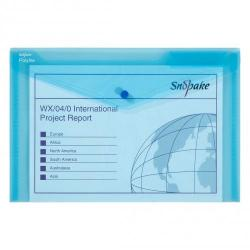 Cheap Stationery Supply of Polyfile Wallet F/S Blue PK5 Office Statationery
