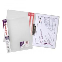 Cheap Stationery Supply of ClampBinder Polypropyle A4 CLR PK10 Office Statationery