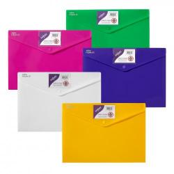 Cheap Stationery Supply of Polyfile ID Wallet A4 Brgt Astd PK5 Office Statationery