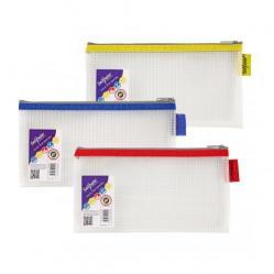 Cheap Stationery Supply of EVA Mesh Zippa Bag DL Assorted PK3 Office Statationery
