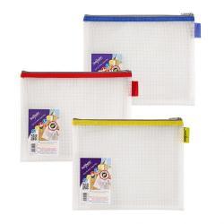 Cheap Stationery Supply of EVA Mesh Zippa Bag A5 Assorted PK3 Office Statationery