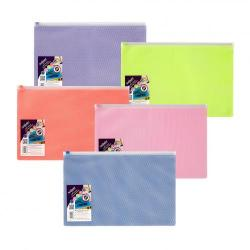 Cheap Stationery Supply of Snopake Zippa Bag Eppe Foolscap 250 Micron Assorted Colours Pack 5 Office Statationery
