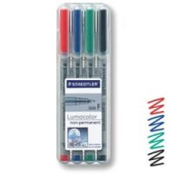 Cheap Stationery Supply of Staedtler Lumocolor Ohp Pen Non-permanent Fine 0.6 Assorted Pack of 4 Office Statationery