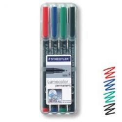 Cheap Stationery Supply of Staedtler Lumocolor Ohp Pen Permanent Fine 0.6mm Assorted Pack of 4 Office Statationery