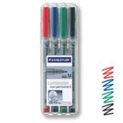 Cheap Stationery Supply of Staedtler Lumocolor Ohp Pen Non-permanent Medium 0.8 Assorted Pack of 4 Office Statationery