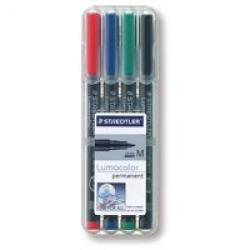 Cheap Stationery Supply of Staedtler Lumocolor Ohp Pen Permanent Medium 0.8mm Assorted Pack of 4 Office Statationery