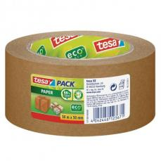Tesa Recycled Paper Packaging Tape 50mm x 50M Brown 57180 Pack 6 34686TE