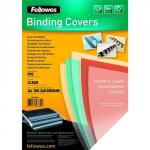 Fellowes PVC Cover A4 240 microns Clear 53762 (PK100) 35382FE