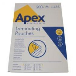 Cheap Stationery Supply of Valuex Laminating Pouch A42x75mu Pack of 200 Office Statationery