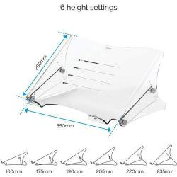 Cheap Stationery Supply of Fellowes Clarity Laptop Riser Office Statationery