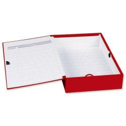 Cheap Stationery Supply of Concord Classic Box File F/scap Red Bx5 Office Statationery