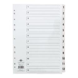 Cheap Stationery Supply of Concord Classic Index 1-12 Clear Mylar Office Statationery