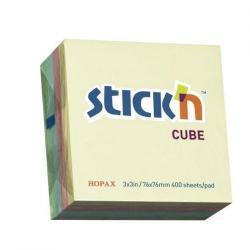 Cheap Stationery Supply of Sticky Notes Cube 76x76mm Pastel Asstd Office Statationery