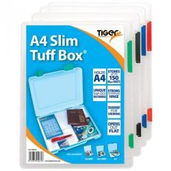 Cheap Stationery Supply of Tiger Tuff Box Polypropylene A4 Slim Office Statationery