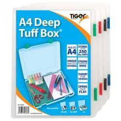 Cheap Stationery Supply of Tiger Tuff Box Polypropylene A4 Deep Clear Office Statationery