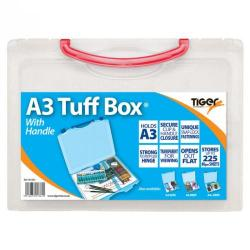 Cheap Stationery Supply of Tiger Tuff Box Polypropylene A3 Clear Office Statationery