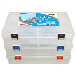 Cheap Stationery Supply of Tiger Hobby Box Polypropylene Clear Office Statationery